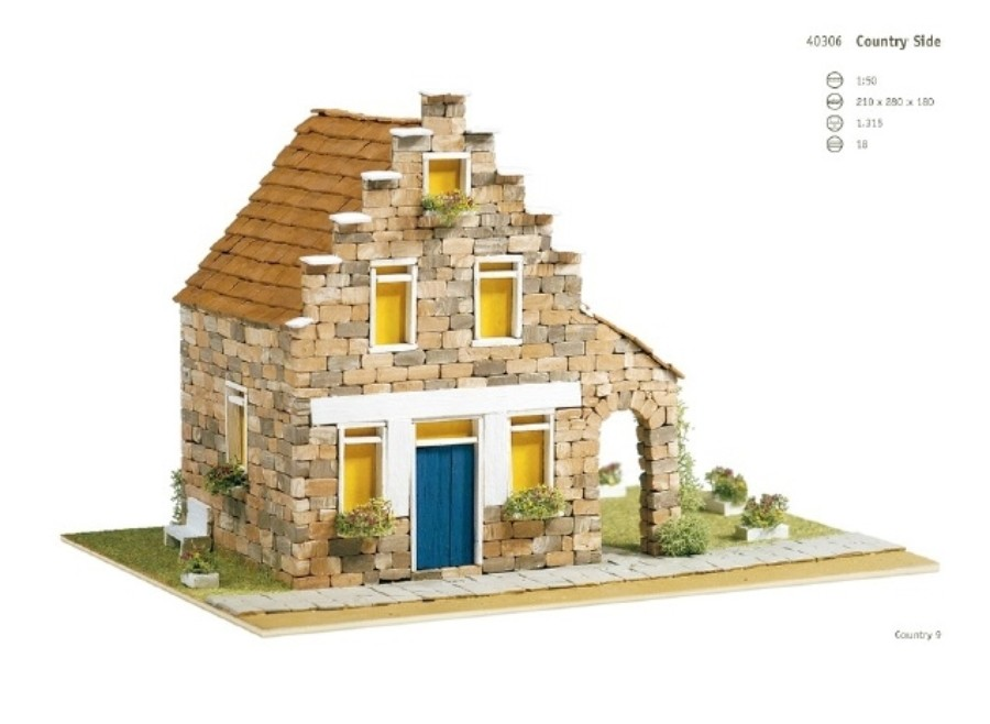 Casa Country 9 Domus kits: casetta in mattoncini art 40306