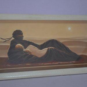 Obraz s dřevěným rámem. Velikost obrazu77x40 cm.