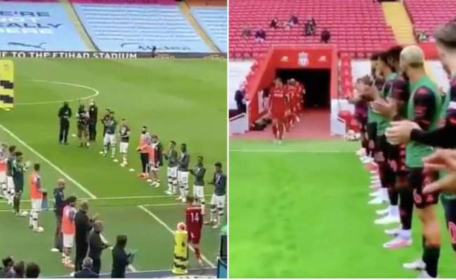 Liverpool Fans Praise Aston Villa S Guard Of Honour