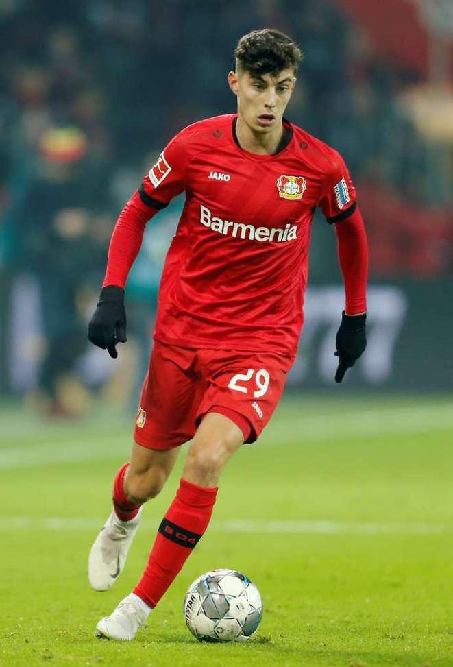 Havertz with Leverkusen