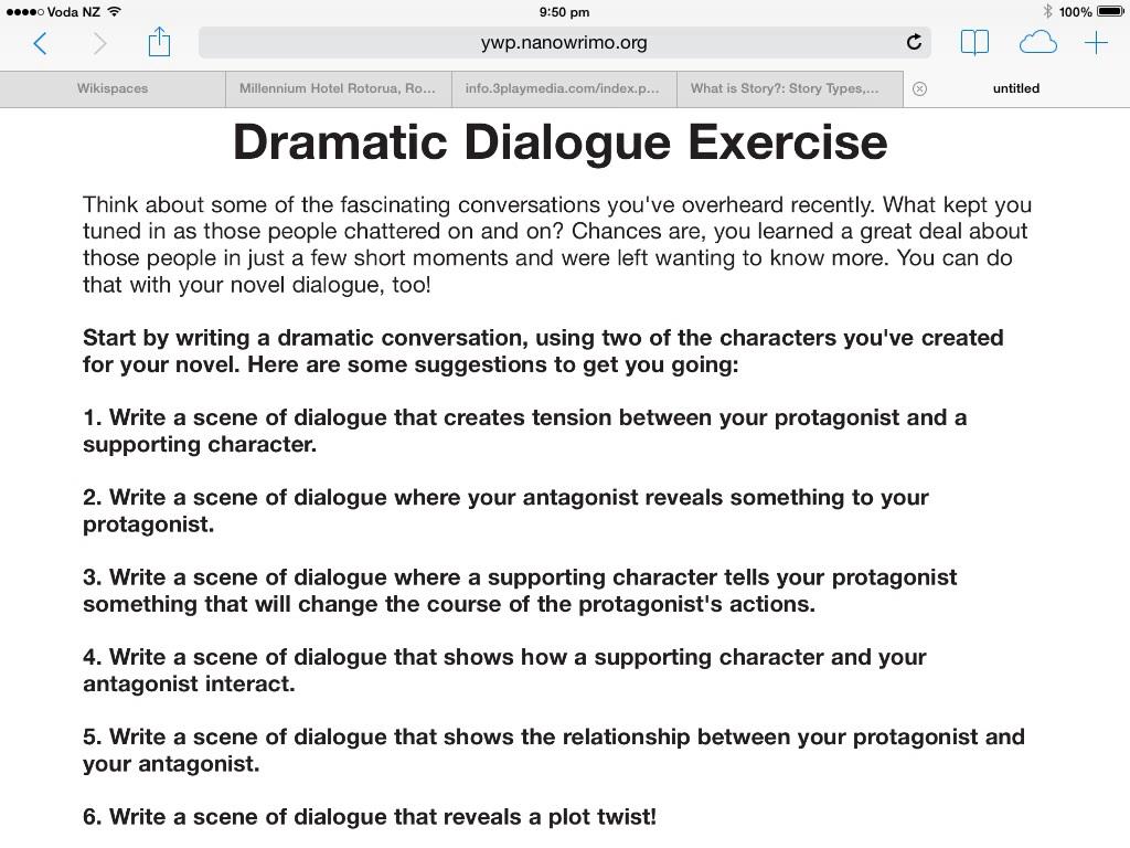 Creative Writing How To Write Dialogue Tasks Mrs