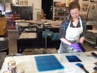 Trace Monotype Workshop, October 2014