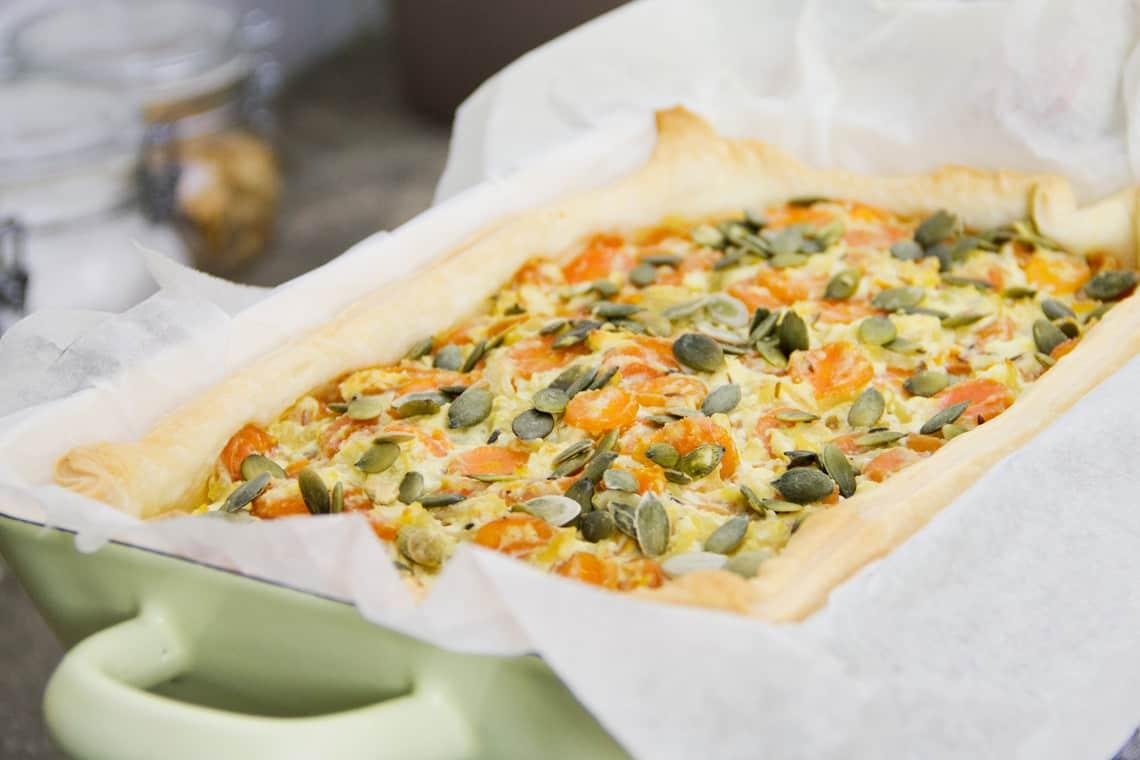 Ricetta Torta salata con carote  gnamboxcom