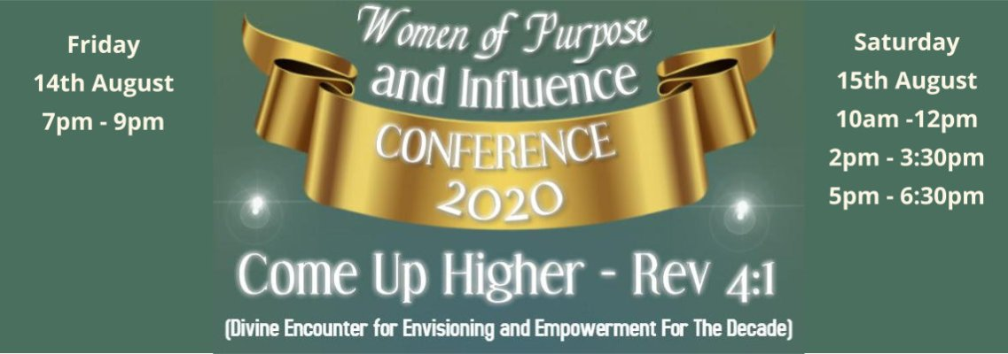 Women Of Purpose and Influence Conference 2020