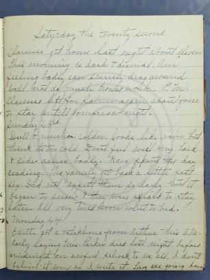 1927.01.22-24 - Annie F Morris diary