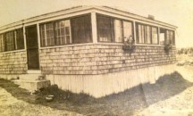 "labeled ""Aunt Meta's cabin, Georgetown, Maine"""
