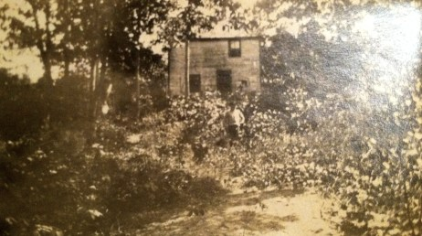 "labeled ""Marcella Steadman's cabin - Georgetown Me."""