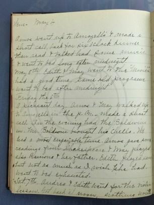 1927.05.04-07 - Annie F Morris diary