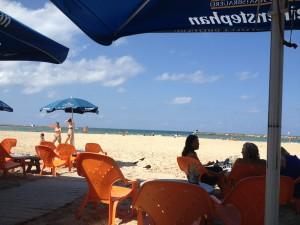 Our little beach restaurant in Tel Aviv