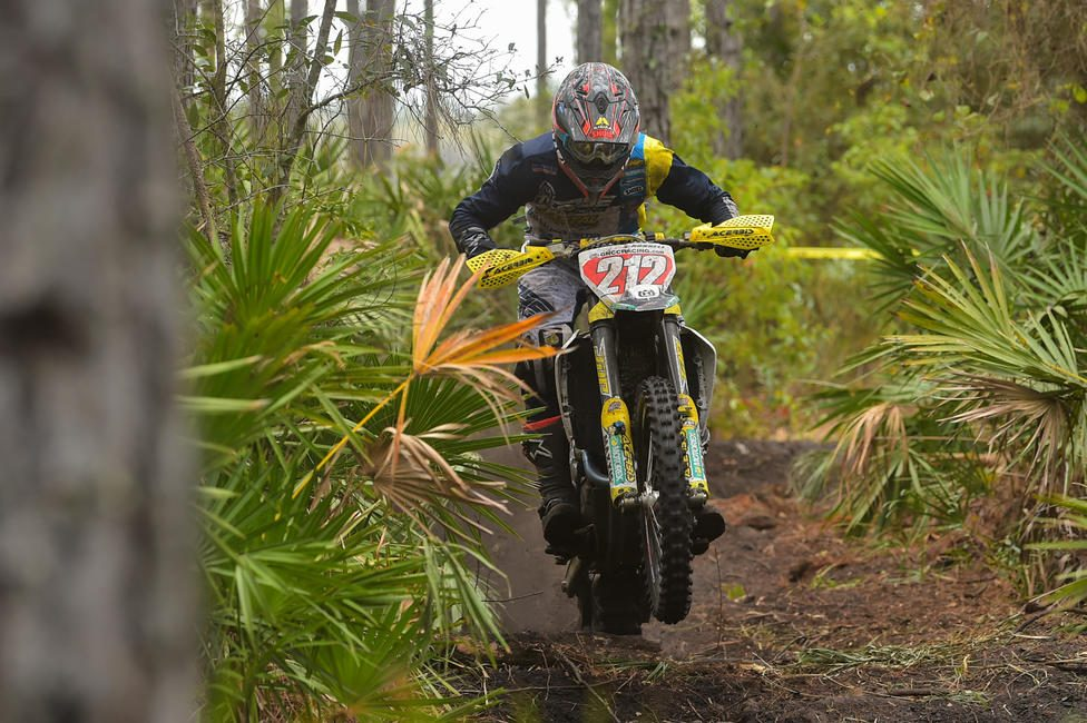 Ricky Russell (Coastal Racing Husqvarna) came through to take the third overall position in the Florida sand.