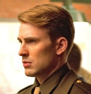 Left to right: Hayley Atwell plays Peggy Carter and Chris Evans plays Steve Rogers in Marvel Studios? CAPTAIN AMERICA: THE FIRST AVENGER. ?