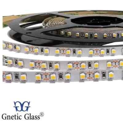 TIRA LED ROLLOS DE 5M - SIN SILICONA 5050 DE 12V BLANCO CALIDA