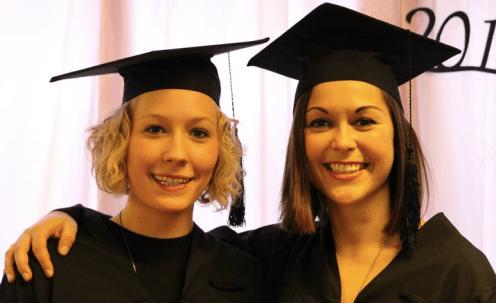 At the graduation ceremony