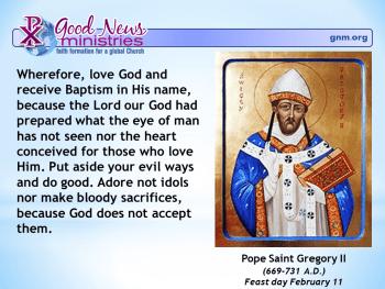Pope Saint Gregory II