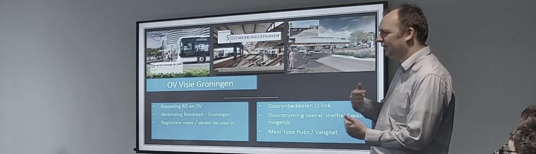 Menno Oedekerk presenteert OV-visie Groningen