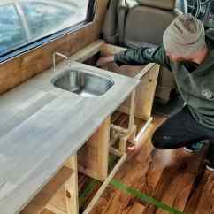 How To Make Kitchen Cabinets Walmart We Made Custom For Our Diy Van Build