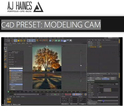 Cinema 4D modeling cam by a.j. Haines