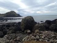 Very large rocks.