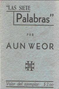 Portada original del libro las siete palabras del VM Samael Aun Weor