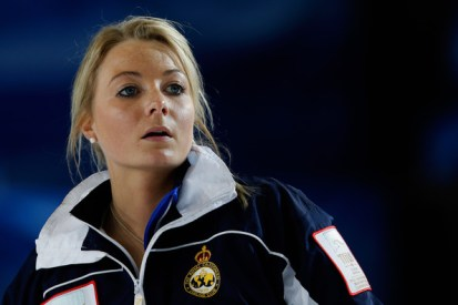 Anna Sloan from Great Britain is a favorite to medal in the curling competition.