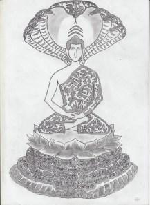 #3 Buddha and Mucalinda