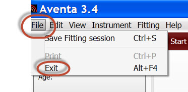 Screen shot 9 exit Aventa
