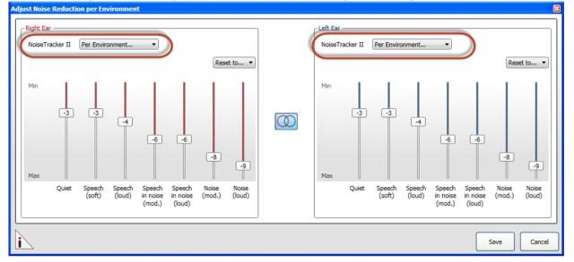 Noise Tracker II Per Environment