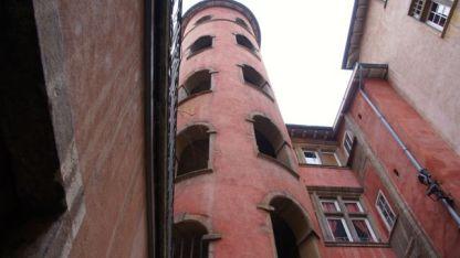 Inner courtyard in Lyon