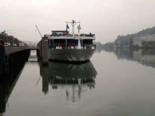 """Scenic Emerald"" docked at Vienne"