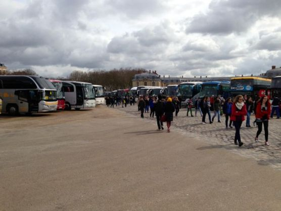 Buses at Versailles