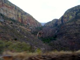 The rugged escarpment