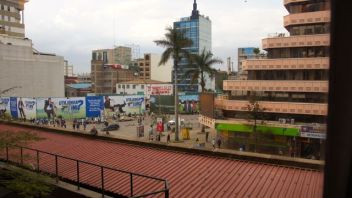 A view from our room in Nairobi