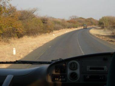 A main road in Botswana