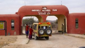 Entrance to Amboseli National Park