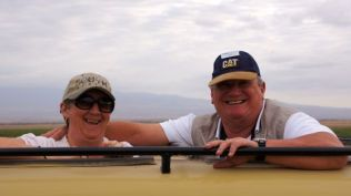 Sharon and Sid enjoying the safari drive