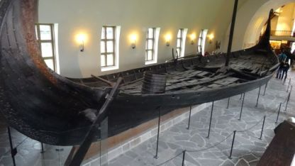 An original Viking boat