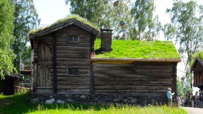 Soil and grass is insulation on the houses