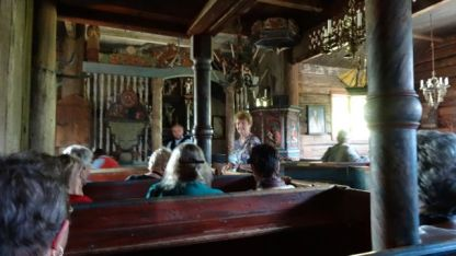 Inside another stave church
