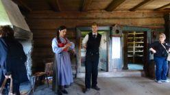 Inside a farmhouse