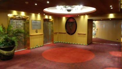 An elevator foyer.
