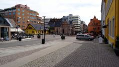 Cobble stones in a town square