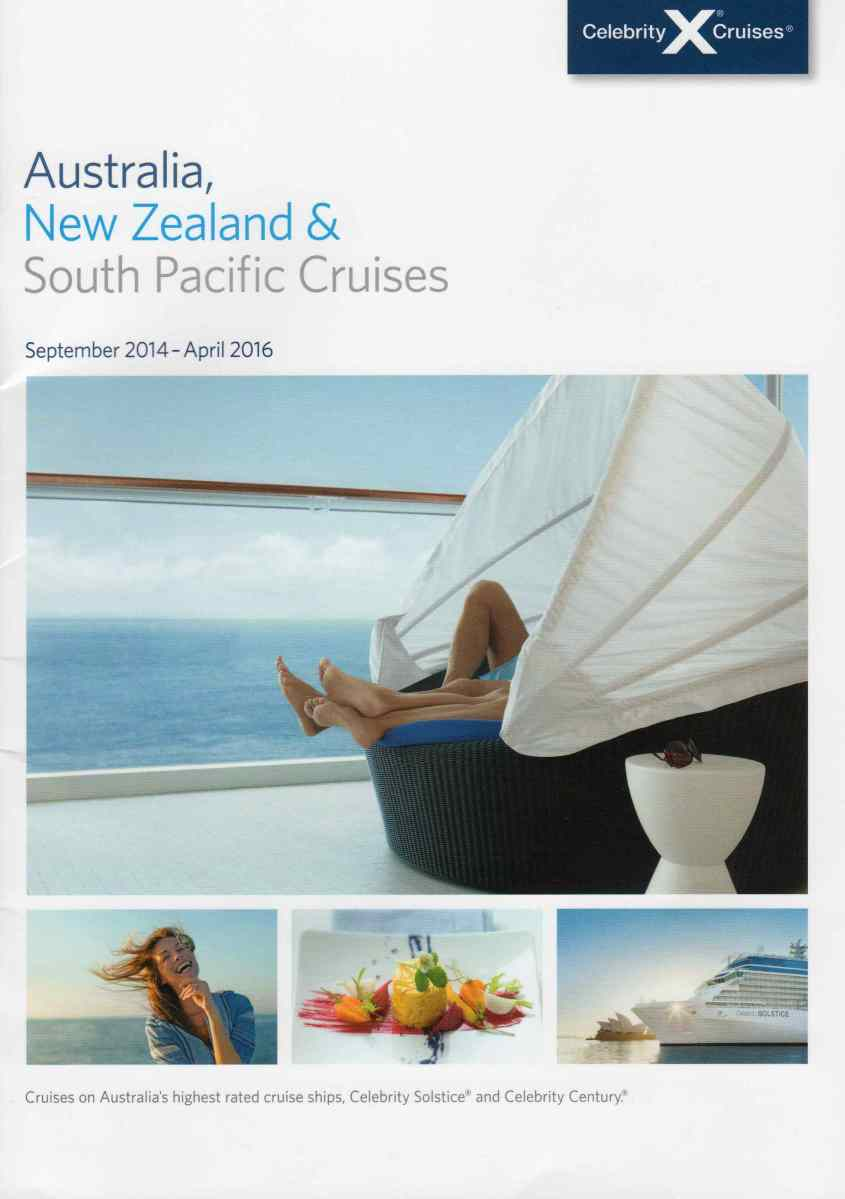 Celebrity Cruises Australia New Zealand And South Pacific Grey