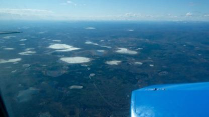 See the edges of the lakes melting