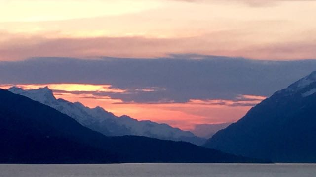 Now this IS an Alaskan sunset.