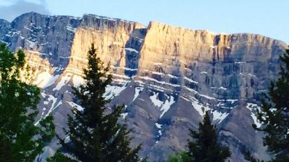 View from RV Park in Banff