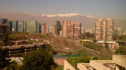 The Andes in the background