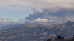 Volcano in the distance