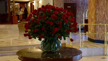 Roses in the foyer