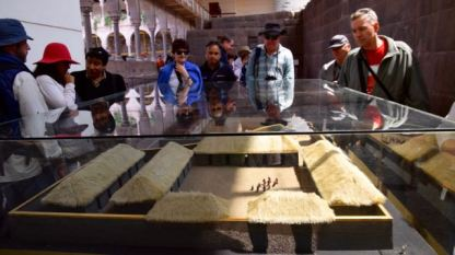 Viewing a model of the Sun Temple