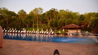Around the pool at the resort